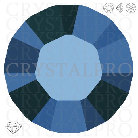 スワロフスキー #1028 クリスタルメタリックブルー