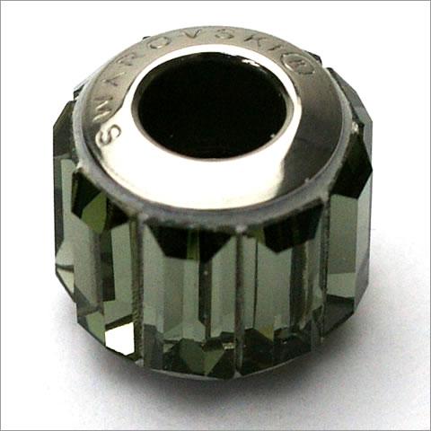 スワロフスキー ビーチャーム 180301 ブラックダイヤモンド