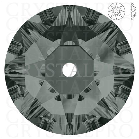 スワロフスキー #3188 ブラックダイヤモンド