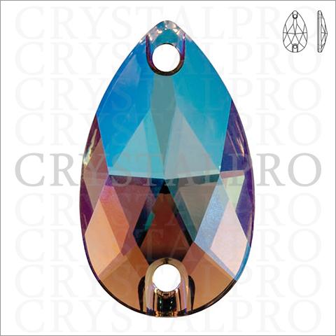 スワロフスキーソーオンストーン #3230 ブラックダイヤモンドシマー