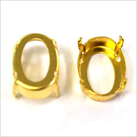 石座 スワロフスキー #4120 18x13mm ゴールド