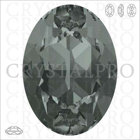 スワロフスキー #4120 ブラックダイヤモンド