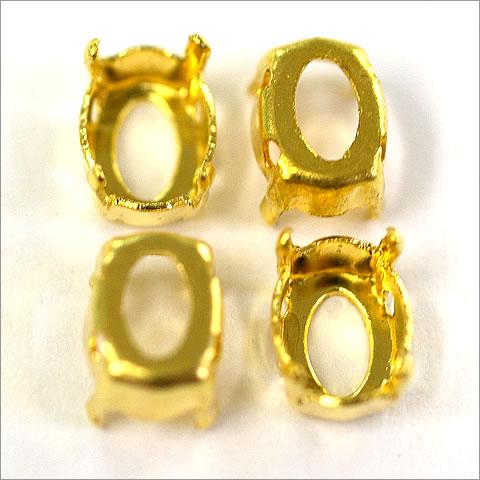 石座 スワロフスキー #4120 8x6mm ゴールド