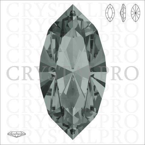 スワロフスキー #4228 ブラックダイヤモンド