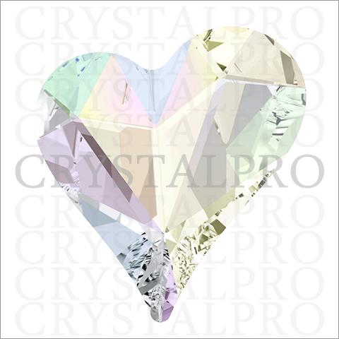 【数量限定販売】スワロフスキー #4809 Sweet Heart Fancy Stone クリスタルAB 13x12mm  1ヶ