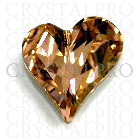 スワロフスキー #4809 Sweet Heart Fancy Stone ヴィンテージローズ 13x12mm  1ヶ