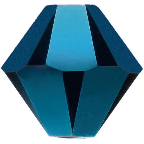 スワロフスキー ビーズ #5328(#5301) ソロバン型 メタリックブルー2X