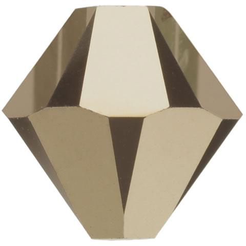 スワロフスキー ビーズ #5328(#5301) ソロバン型 メタリックライトゴールド2X