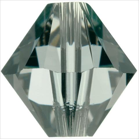 スワロフスキー ビーズ #5328(#5301) ソロバン型 ブラックダイヤモンド