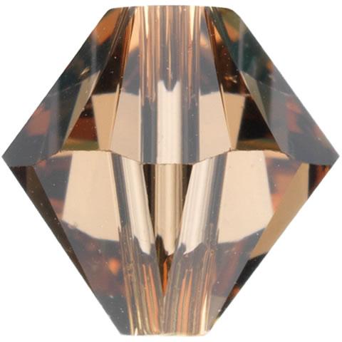 スワロフスキー ビーズ #5328(#5301) ソロバン型 ライトスモークトパーズ