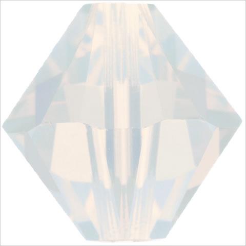スワロフスキー ビーズ #5328(#5301) ソロバン型 ホワイトオパール