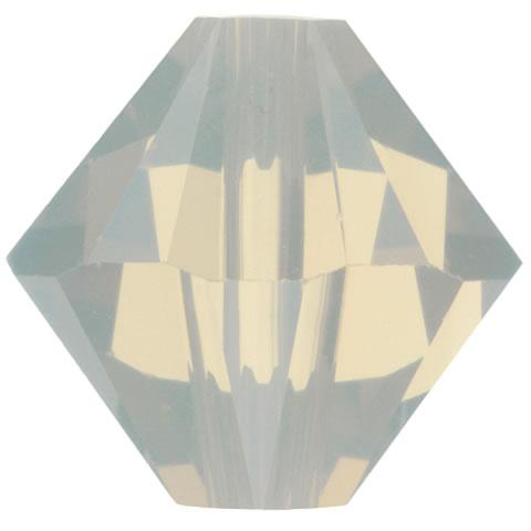 スワロフスキー ビーズ #5328(#5301) ソロバン型 ライトグレイオパール
