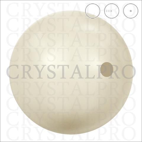 スワロフスキーパール(片穴)#5818 クリスタル・ホワイト・パール