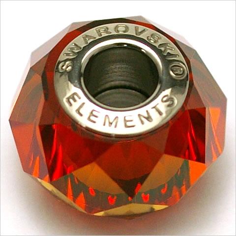 5948 BeCharmed Briolette Bead クリスタル・レッド・マグマ