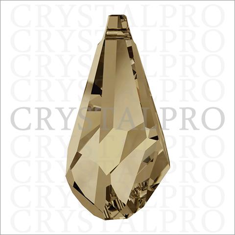 スワロフスキー #6015 Polygon Drop クリスタルゴールデンシャドウ
