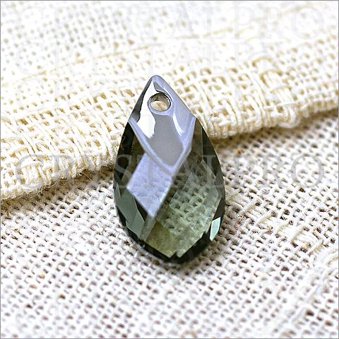 スワロフスキー #6565 ブラックダイヤモンド・ライトクローム