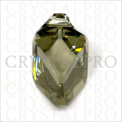 スワロフスキー #6650 Cubist Pendant ブラックダイヤモンド
