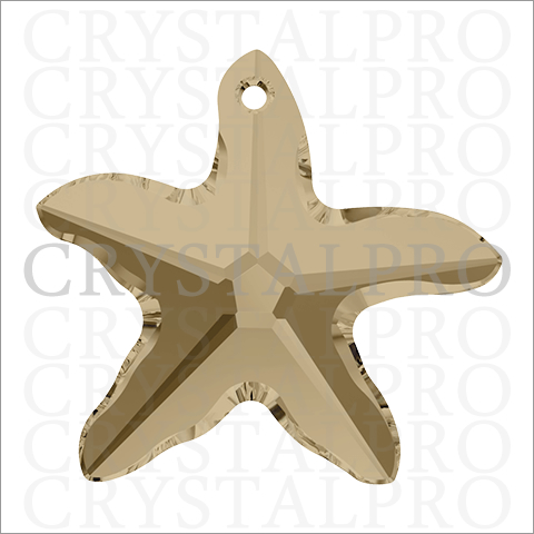スワロフスキー #6721 Starfish クリスタルゴールデンシャドウ