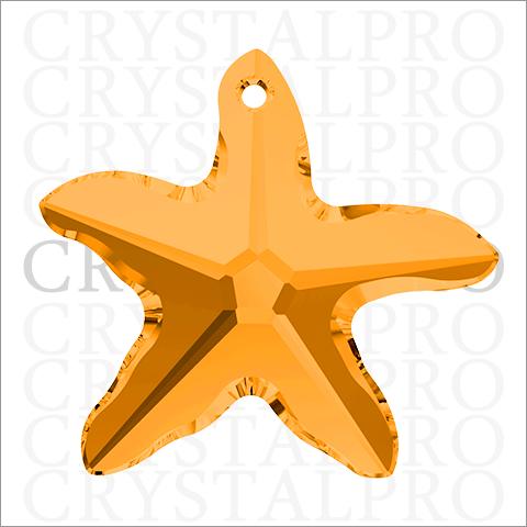 スワロフスキー #6721 Starfish トパーズ