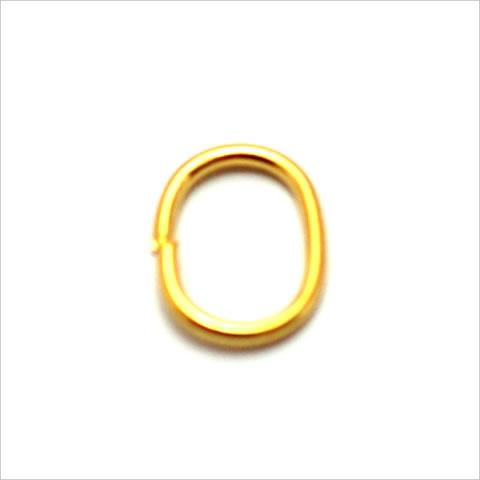 ストラス用金具 ステンカン 10×5mm 楕円 ゴールド