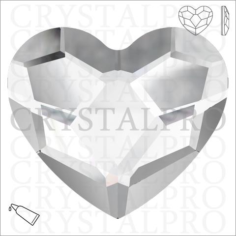スワロフスキー #2808 Heart Flat Back クリスタル