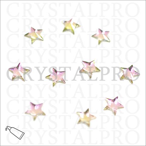 スワロフスキー #2816 Rivoli Star Flat Back 5mm クリスタルVL(ヴィトレイルライト) 10ヶ