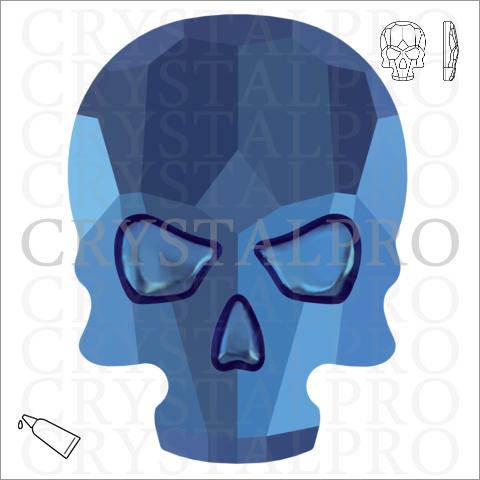 スワロフスキー #2856 クリスタルメタリックブルー