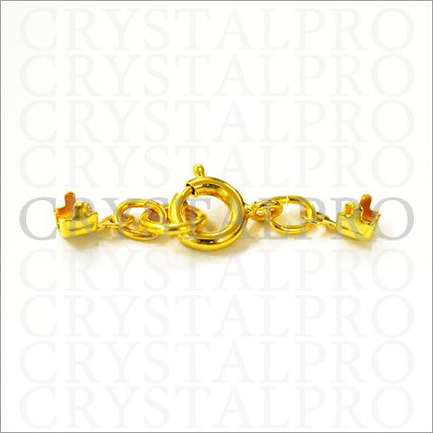 連爪 引き輪付き エンド金具 ゴールド