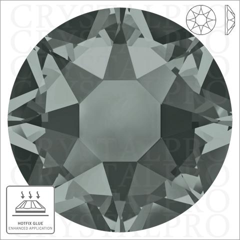 スワロフスキーホットフィックス #2078 ブラックダイヤモンド