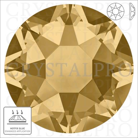 スワロフスキーホットフィックス #2078 ライトコロラドトパーズ