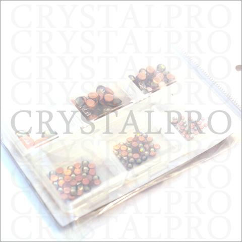 スワロフスキーホットフィックス6サイズセット ブラックダイヤモンド