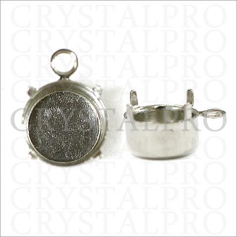カン付き石座 スワロフスキー #1028/1088 SS39対応金具 シルバー