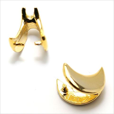 バチカン金具 三日月型(大) ゴールド