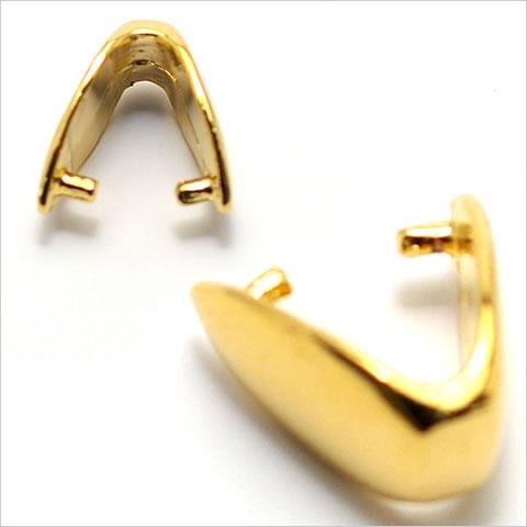 バチカン金具 しずく型(大) ゴールド