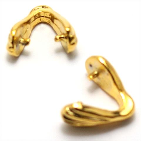 バチカン金具 貝ミニ ゴールド