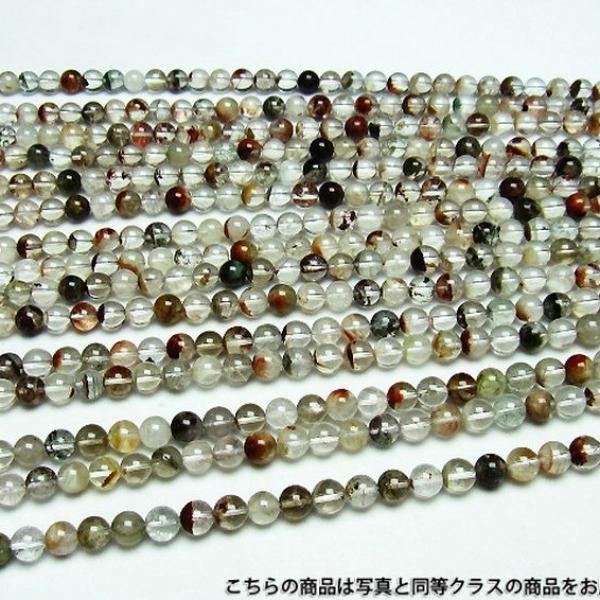 ガーデン水晶 一連 ビーズ8.5mm[H510-6]