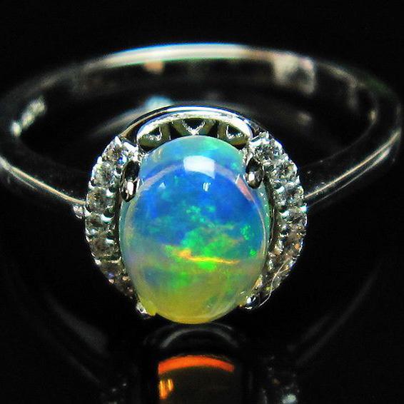 画像現物/★セット割対象品!★ プレシャスオパール 指輪 14号  precious opal [L388-118]