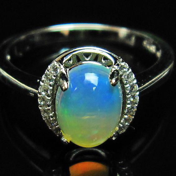 画像現物/★セット割対象品!★ プレシャスオパール 指輪 12号  precious opal [L388-122]