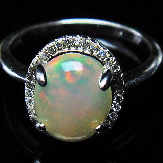 プレシャスオパール 指輪 (15号)[L388-430]