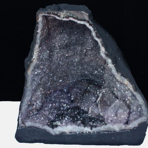 ★セット割対象品!★ 99Kg ブラジル産 アメジストドーム 個性的なレア紫結晶 ルチル入り  amethyst M112-895 (配送日程要相談品)