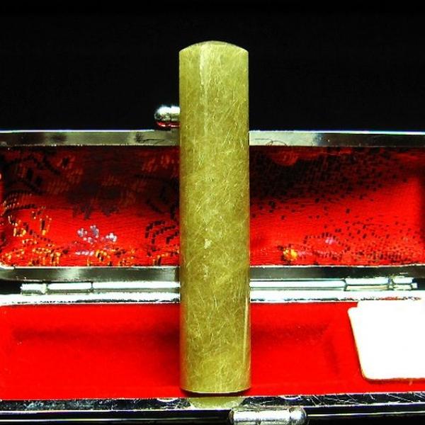 豪華ルチル 印材 ※別途料金で篆刻可能 12mm [M119-175]