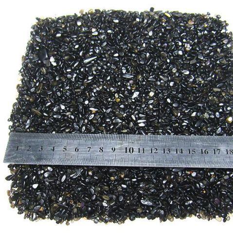 モリオン 純天然 黒水晶 さざれサイズ:小[M187-4]