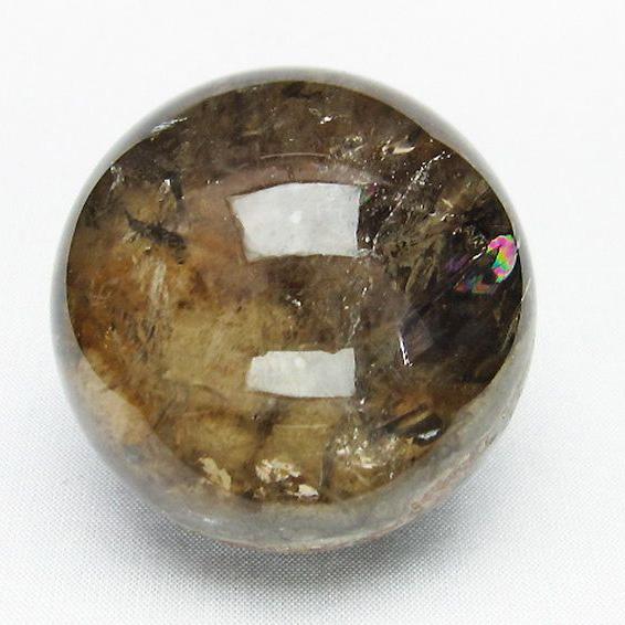 虹入り ガーデン水晶 丸玉 55mm [T100-4127]