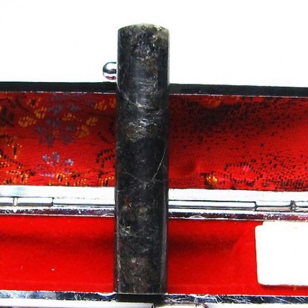 ゴールドタイチンルチル黒虎目石 印材 12mm [T101-81]