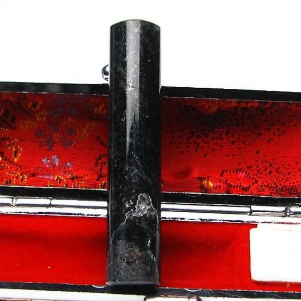 ゴールドタイチンルチル黒虎目石 印材 12mm [T101-94]