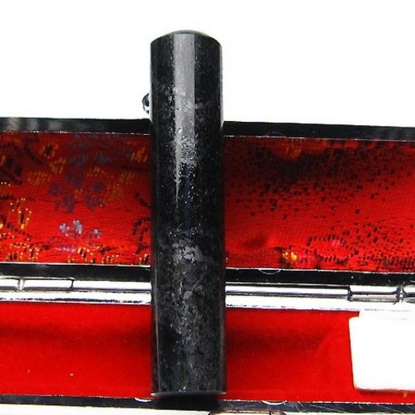ゴールドタイチンルチル黒虎目石 印材 12mm [T101-96]