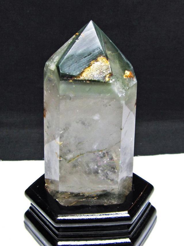 グリーンファントム水晶 六角柱[T222-2171]