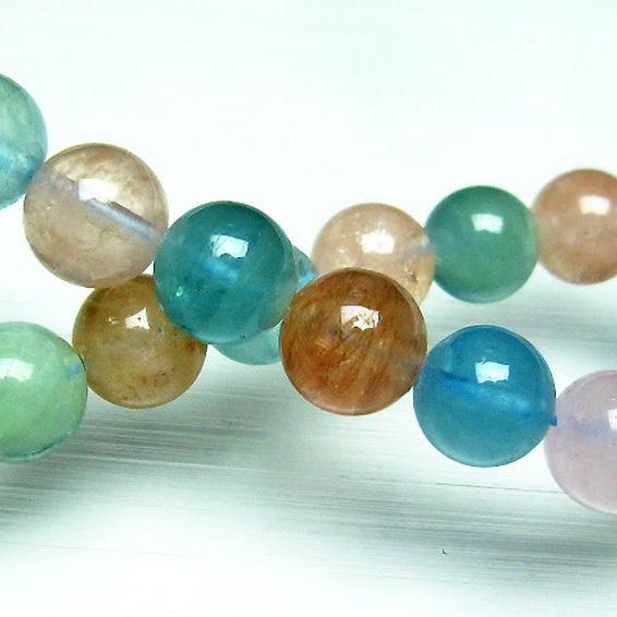MIXベリル ブレスレット 緑柱石10mm [T237-2359]