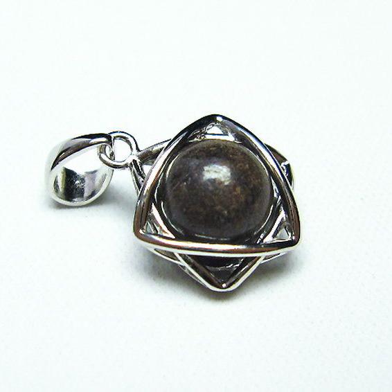 コンドライト「サハラNWA869隕石」 ペンダント [T298-259]