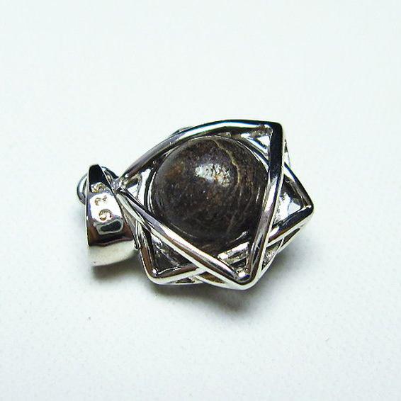 コンドライト「サハラNWA869隕石」 ペンダント [T298-293]